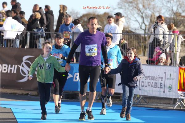 Fabrice au marathon de la Rochelle 2013