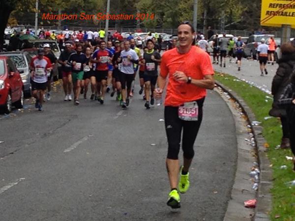 Fabrice au  marathon de San Sebastian 2014