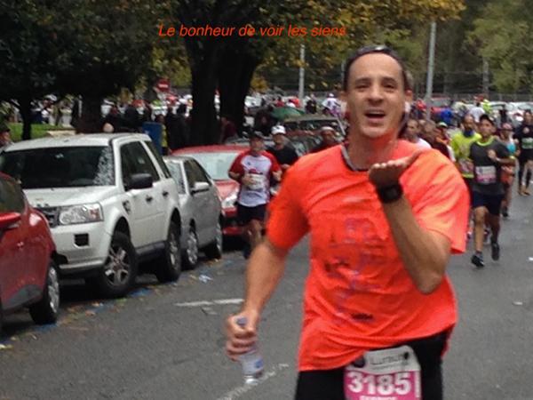 Fabrice au  marathon de San Sebastian 2014 - Le bohneur
